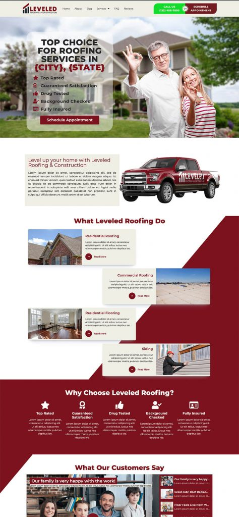 leveled roofing